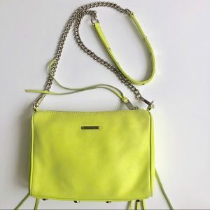 REBECCA MINKOFF LIME GREEN STUD MINI CROSSBODY